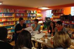 Ottobre 2015. Workshop condotto da Jimmy Liao con gli illustratori presso la Libreria TutteStorie di Cagliari