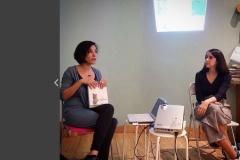 """Aprile 2017. Presentazione del sesto albo """"Incontri Disincontri"""", edito da Terre di Mezzo Editore"""", con l'illustratrice Ilaria Urbinati, presso la libreria Bufò di Torino."""